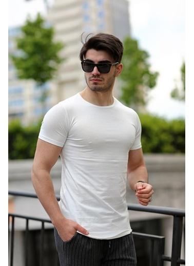 Cool Wear Cool&Wear 12103 Basic Oval Etek Beyaz T-Shirt Beyaz